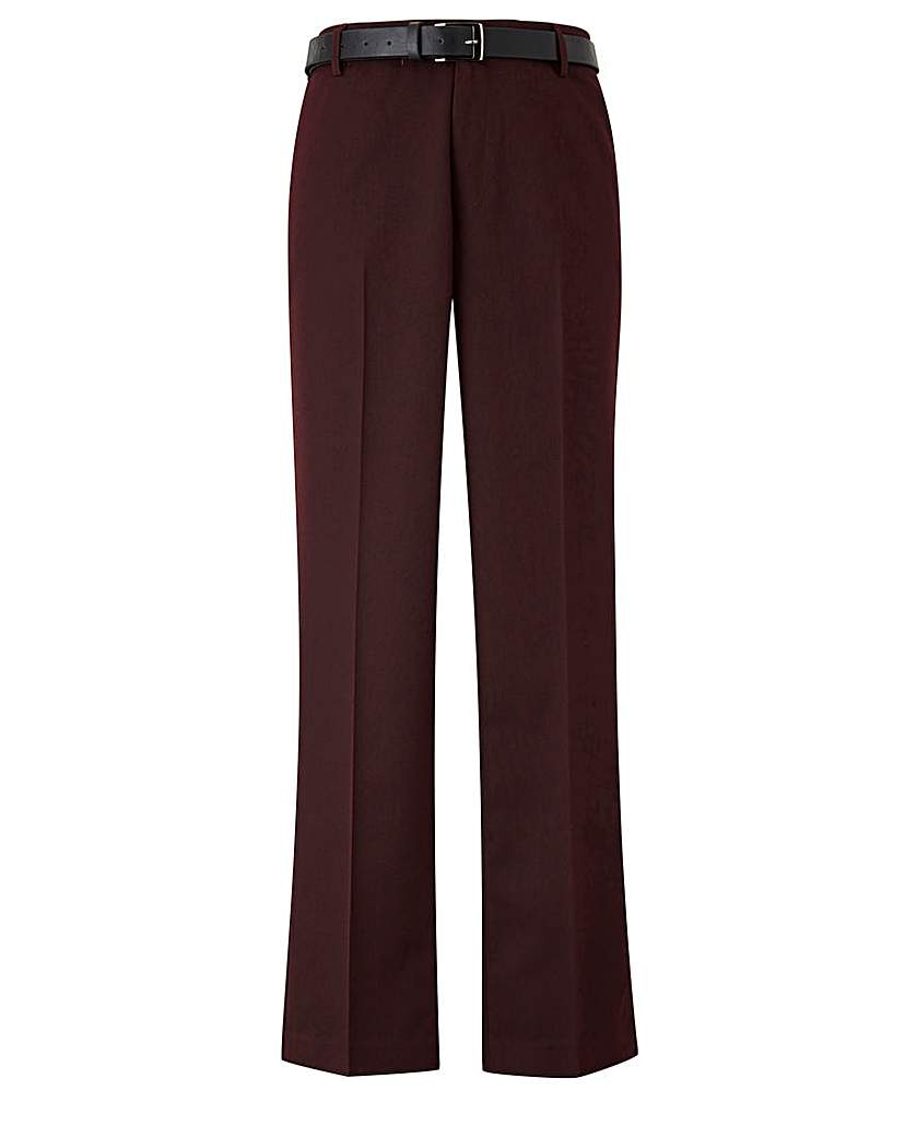 Image of Black Label Slim Belted Trouser 29 inch