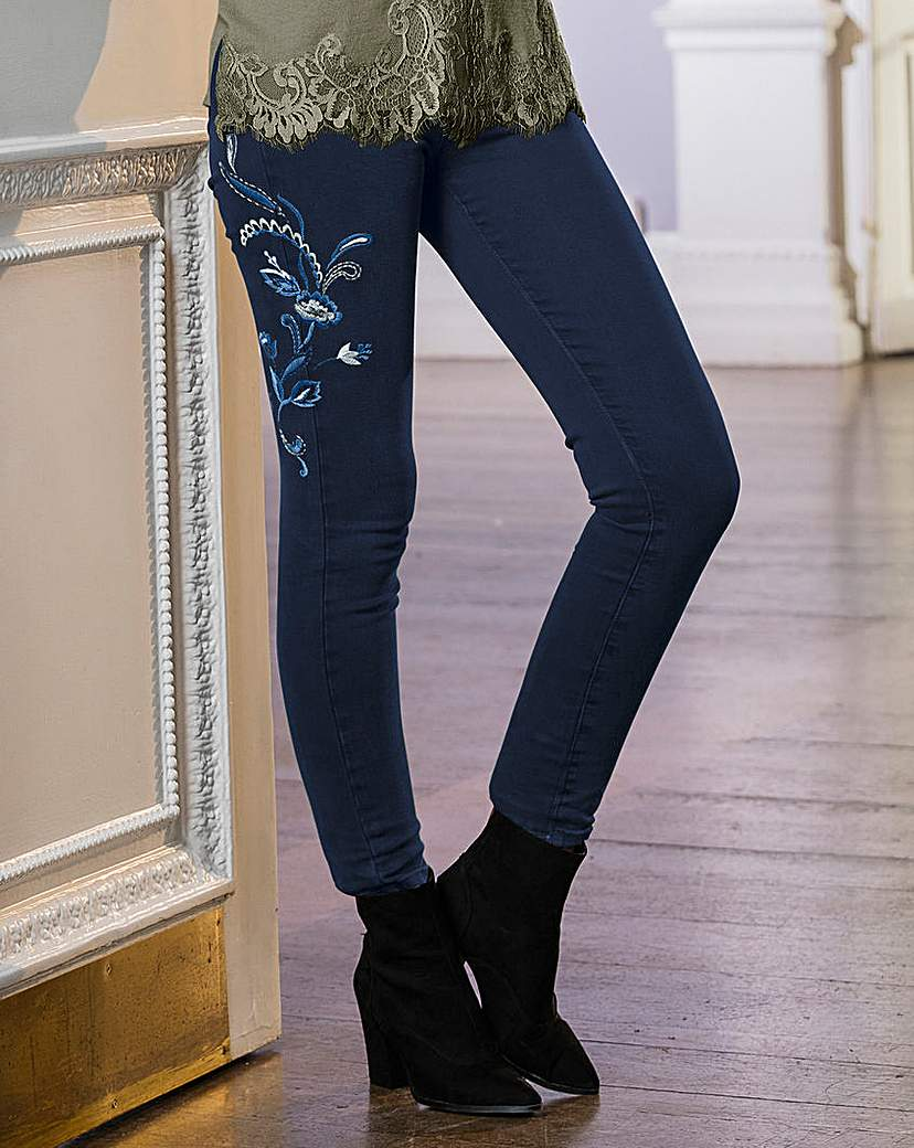 Together Embroidered Jean