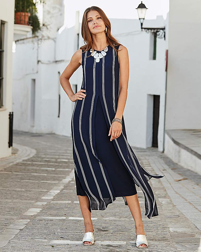 Together Together Layered Stripe Midi Dress