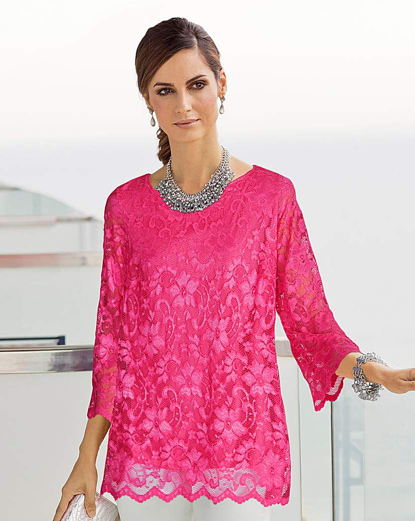 Together Lace Jersey Top
