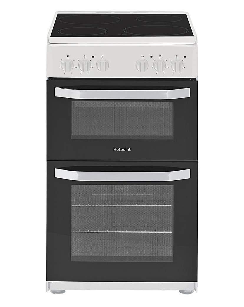 Hotpoint HD5V92KCW Twin Cavity Cooker