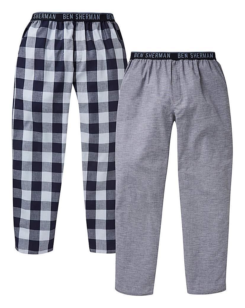 Ben Sherman Pack of 2 Woven Loungepants