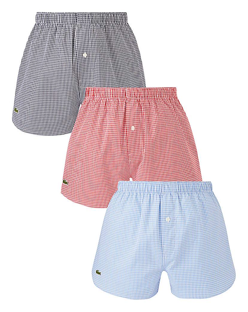 Lacoste Pack of 3 Woven Boxers