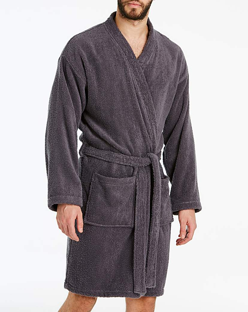 Charcoal Towelling Dressing Gown