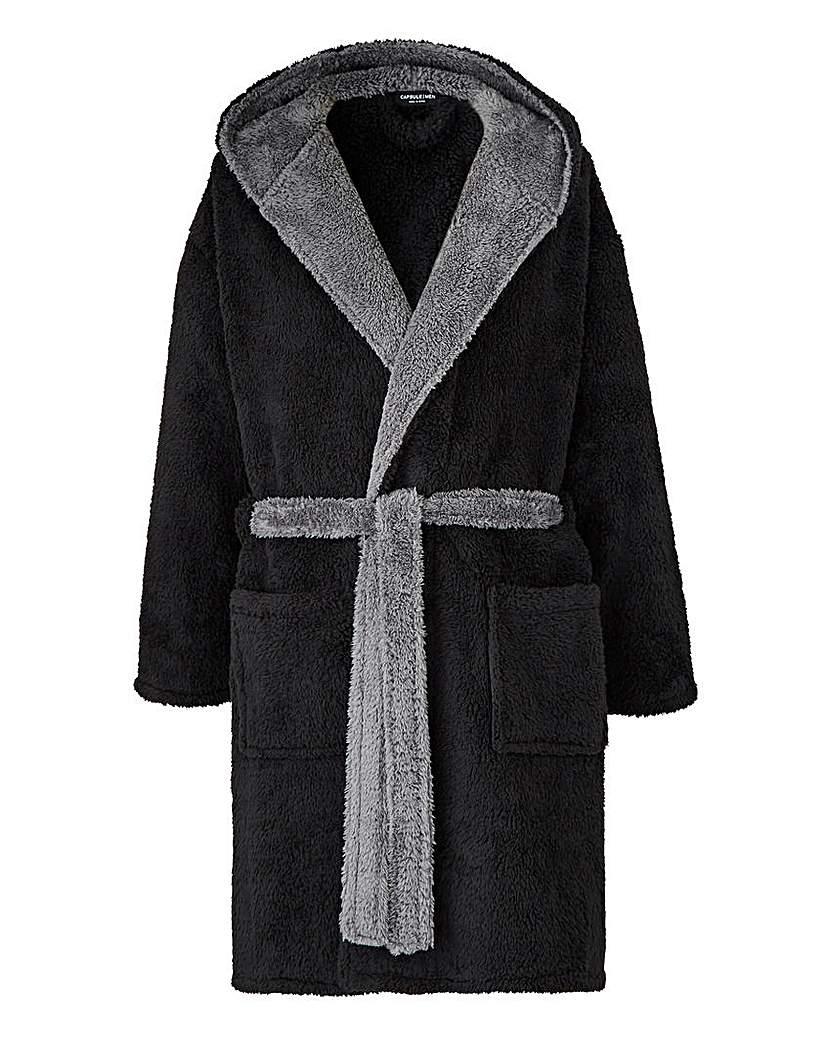 Black Fleece Dressing Gown