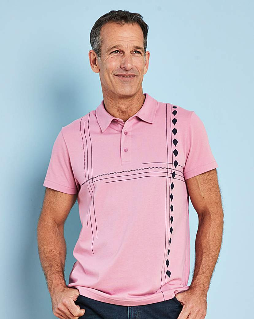 1950s Mens Shirts | Retro Bowling Shirts, Vintage Hawaiian Shirts Premier Man Pink Tailored Collar Polo R £8.00 AT vintagedancer.com