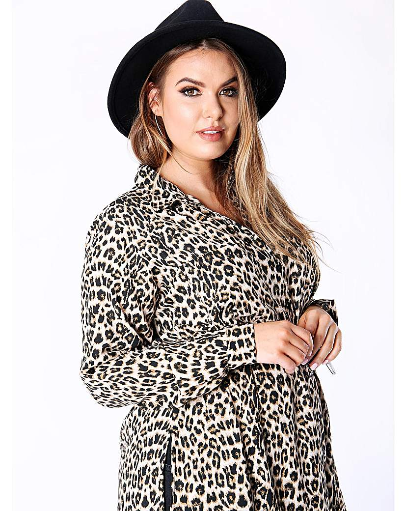 Koko brown leopard print shirt