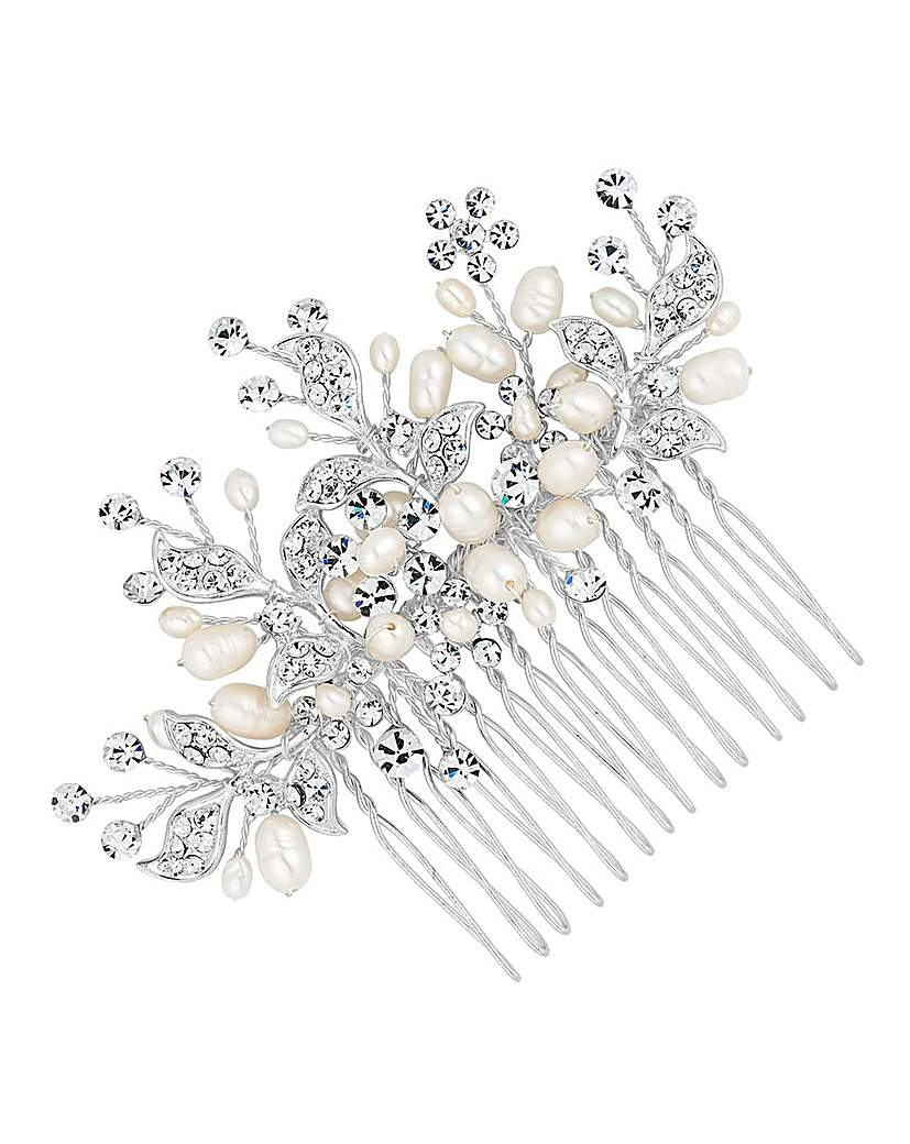 Alan Hannah Crystal Pearl Spray Comb