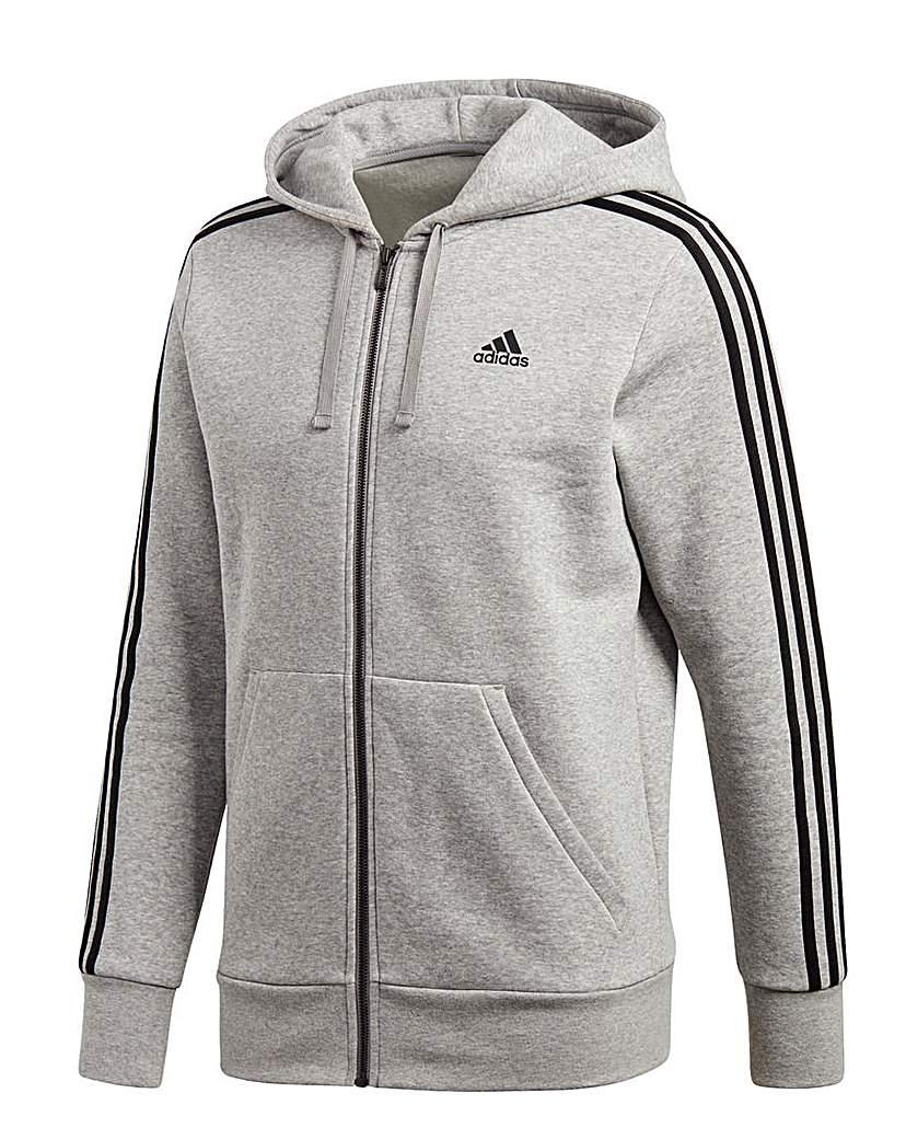 Adidas Essential 3S Full Zip Hoodie