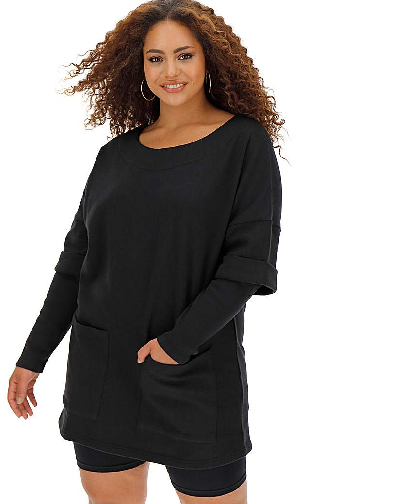 Black Layer Long Sleeve Sweater Dress