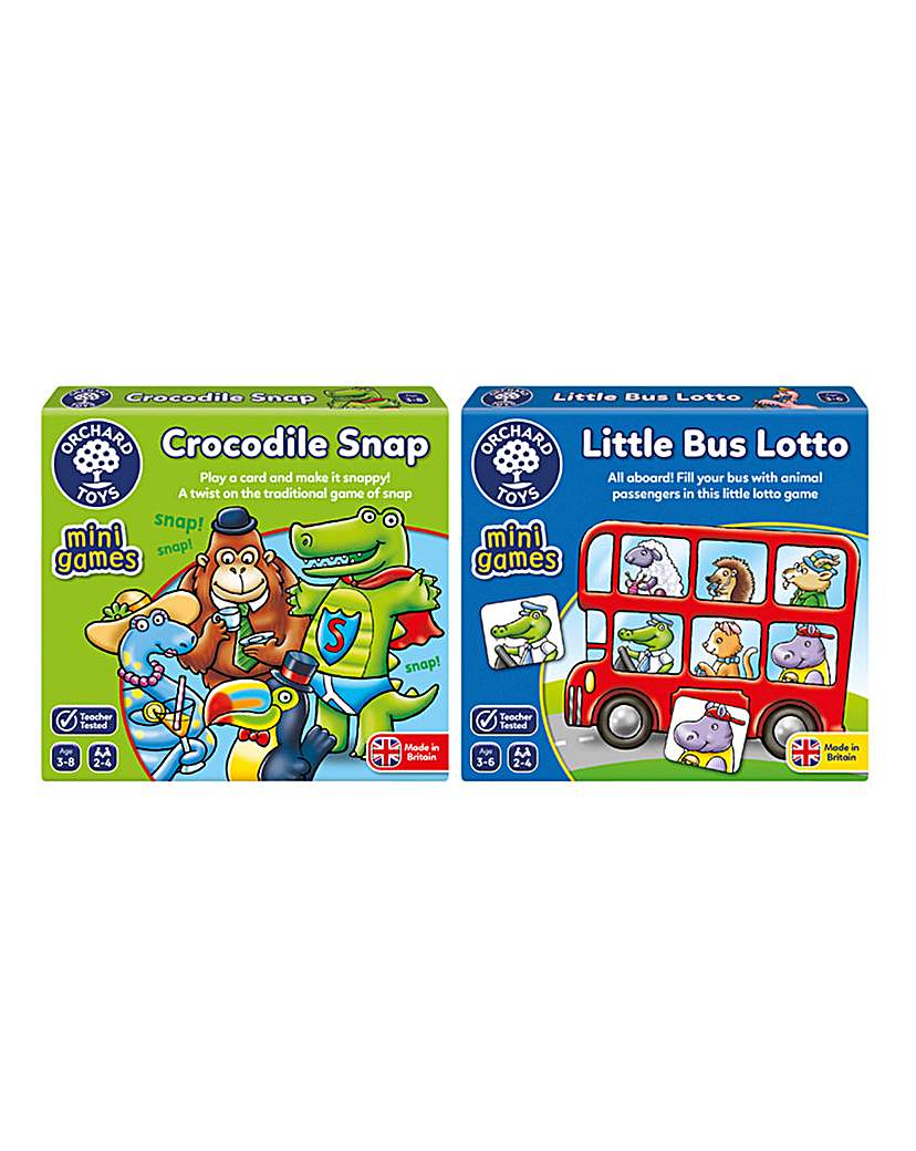 Image of Pack of 2 Snap and Lotto Mini Fun