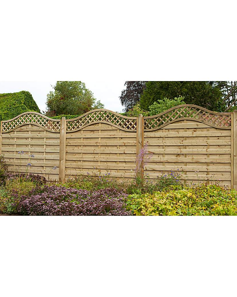 Image of 1.8m Europa Prague Fence Panel Pack of 3