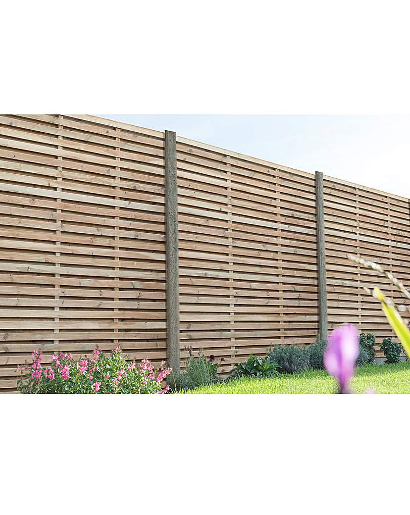 Image of 1.8m Slatted Fence Panel Pack of 5