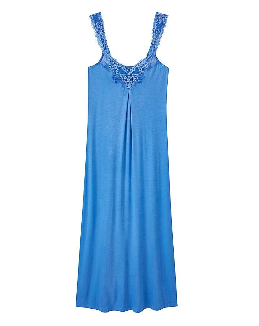 Pretty Secrets Pretty Secrets Blue Lace Detail Chemise