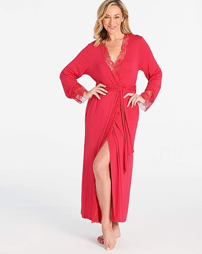 Pretty Secrets Ella Lace Long Robe