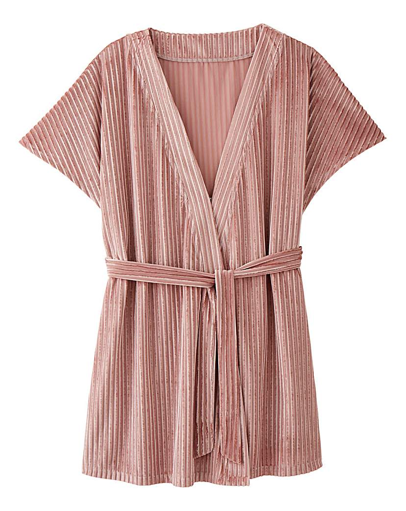 AX Paris Velour Kimono Style Gown