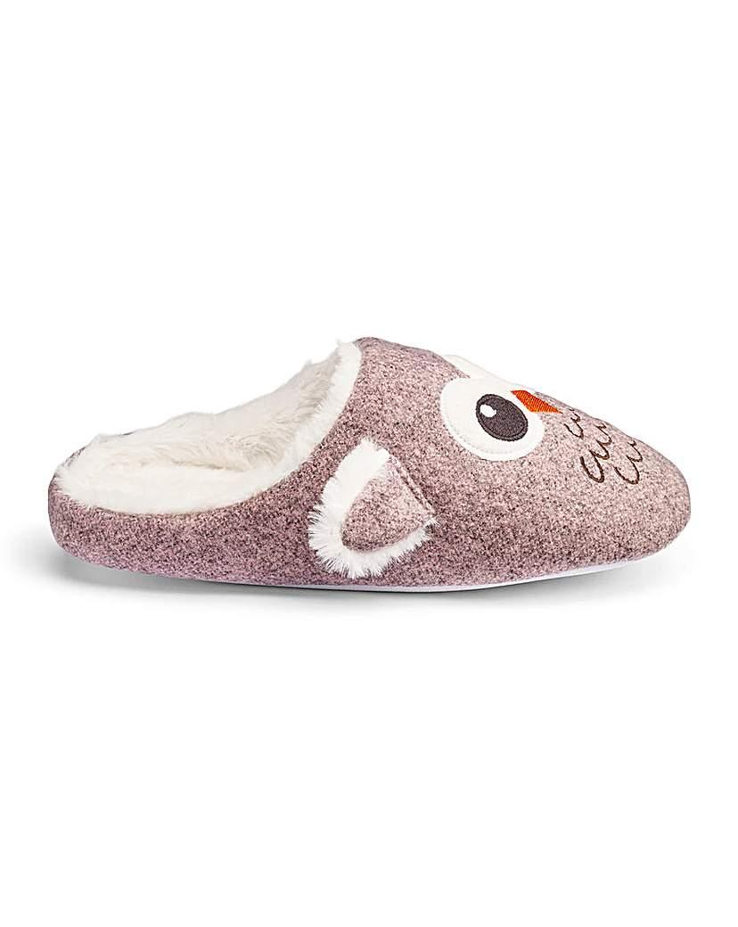 Heavenly Soles Owl Mule Slippers E Fit