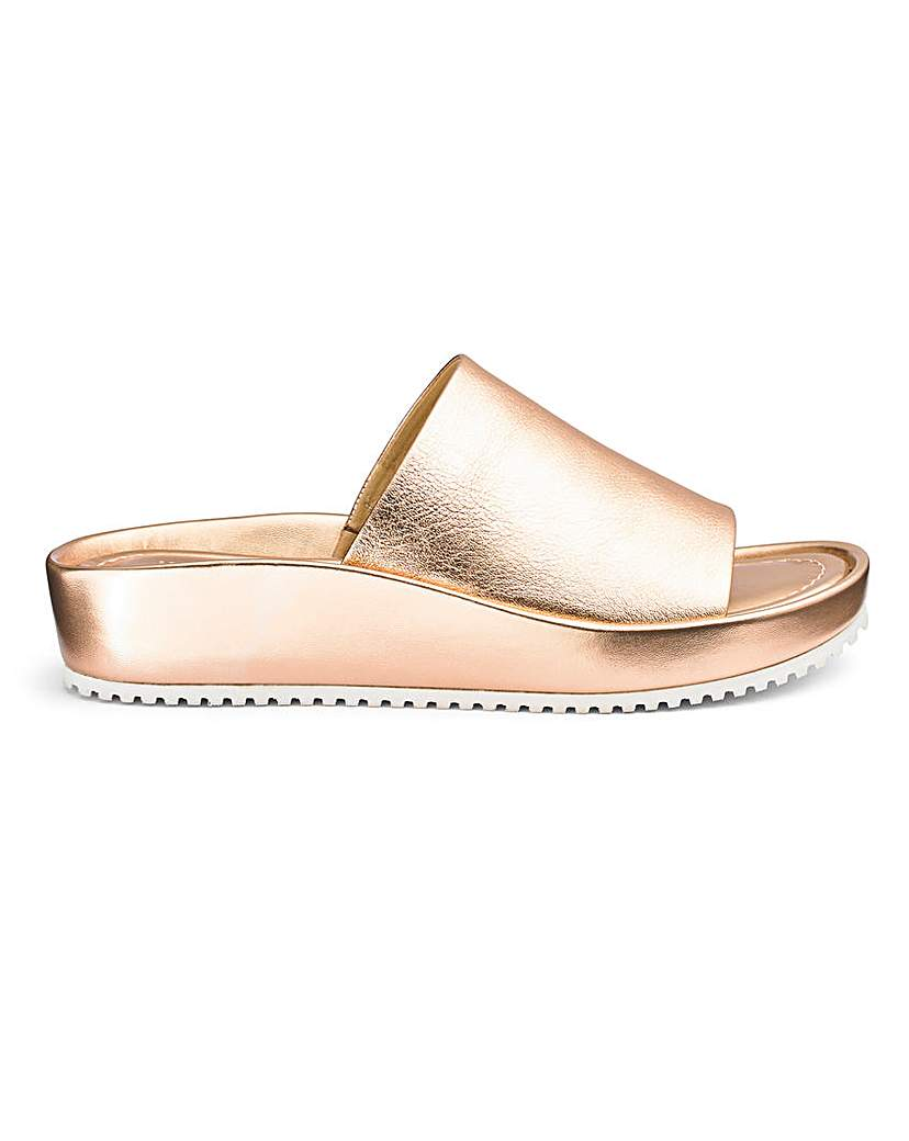 JD Williams Soft Leather Mule Sandals EEE Fit
