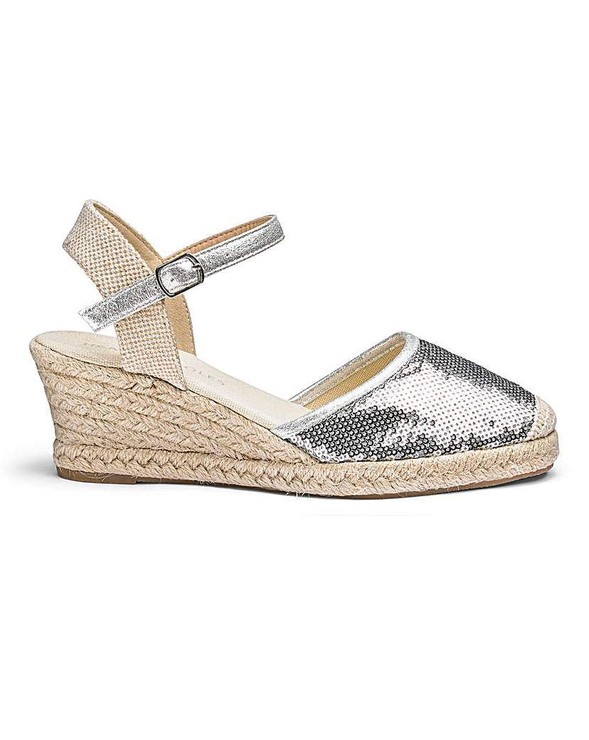Sequin Wedge Espadrilles E Fit
