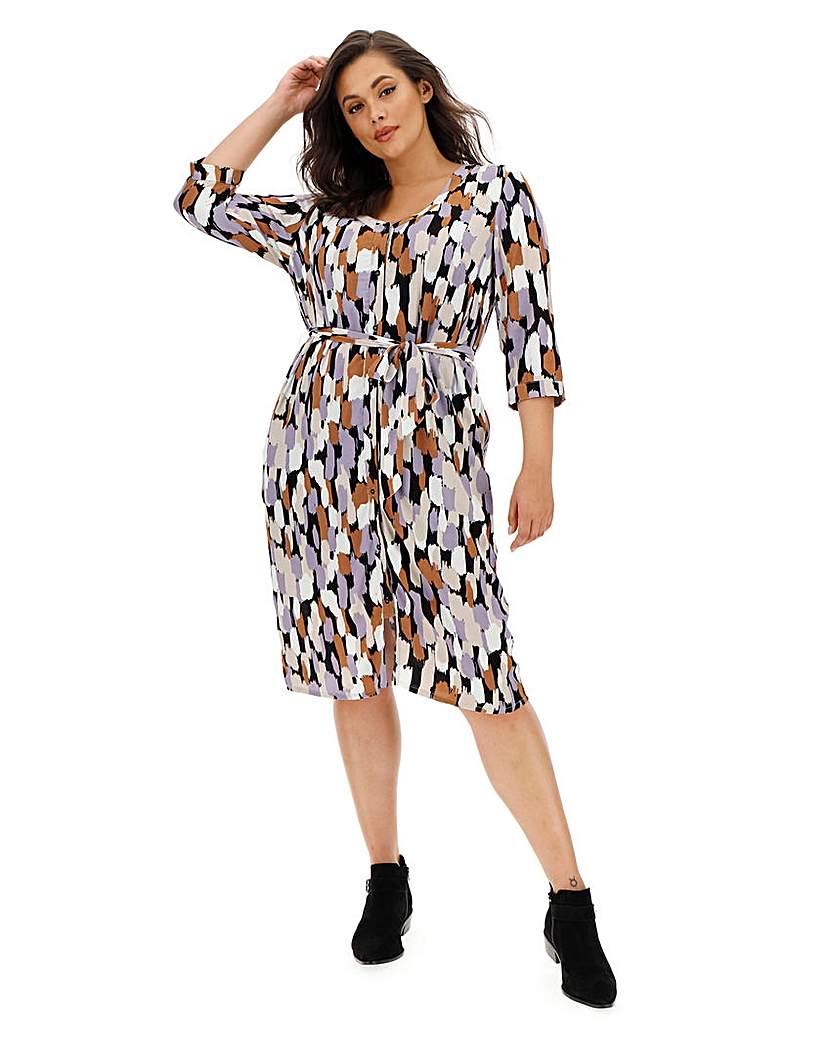I.Scenery Printed Dress