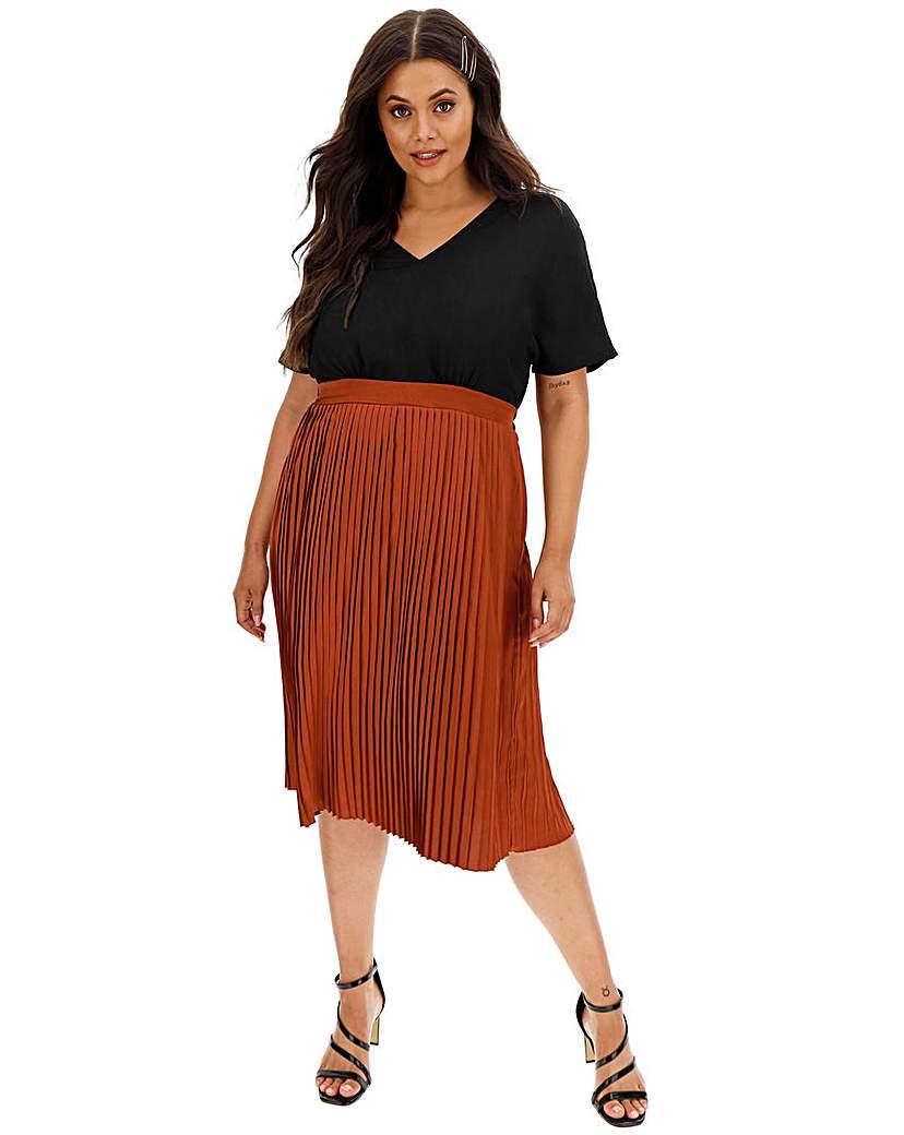 I.Scenery Short Sleeve Midi Dress