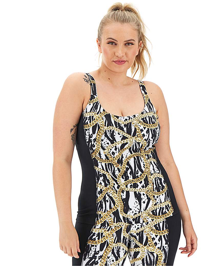 Wolf and Whistle Curve Zebra Chain Vest