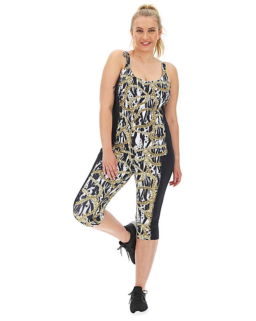 Wolf & Whistle Wolf and Whistle Curve Zebra Chain Capri