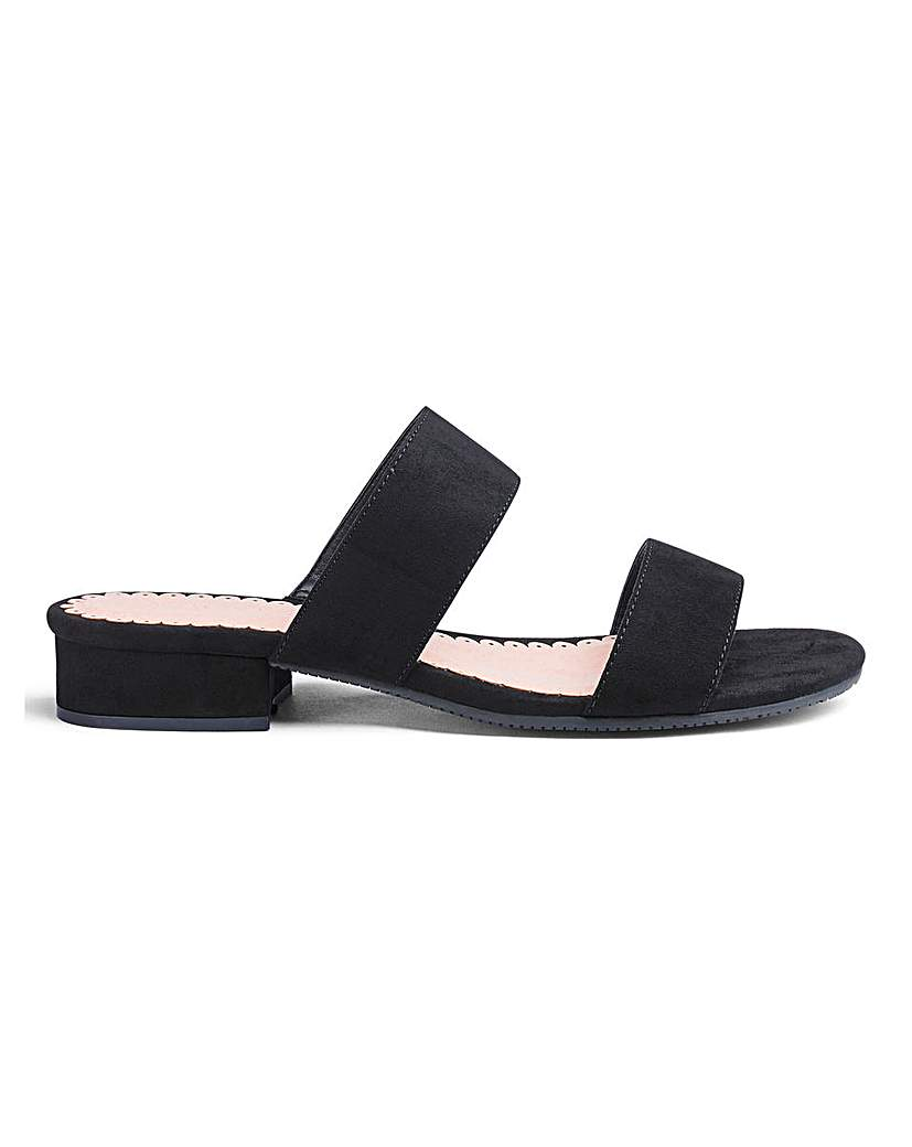 JD Williams Flexi Sole Mule Sandals EEE Fit
