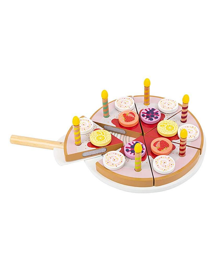 Children's Birthday Cake and Candles Set