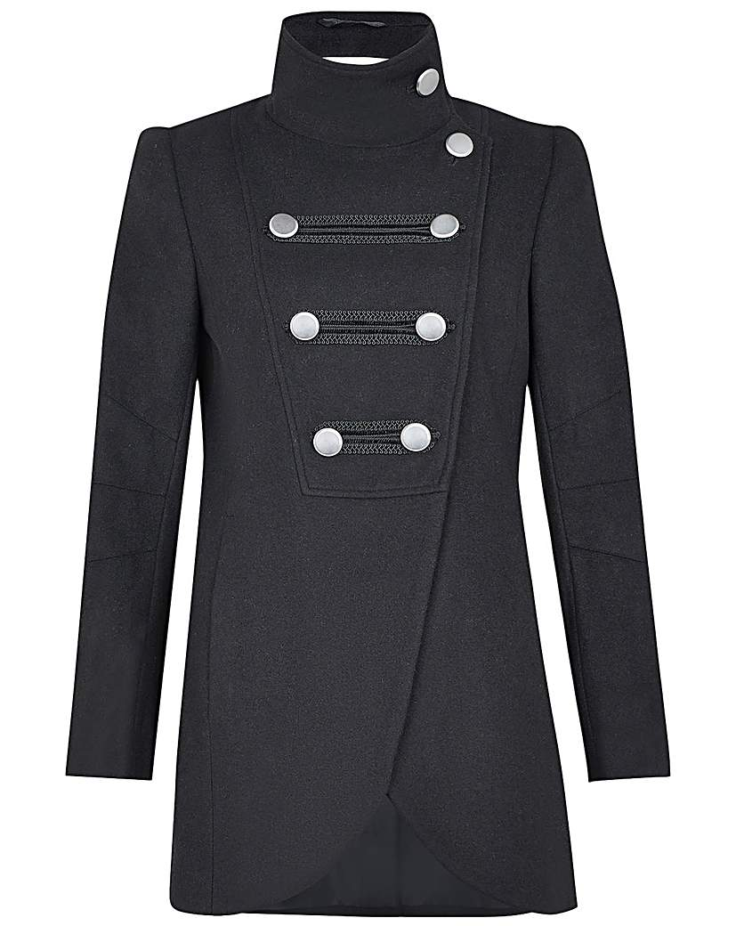 Steampunk Jacket   Steampunk Coat, Overcoat, Cape Monsoon Lizzie Military Peacoat £130.00 AT vintagedancer.com