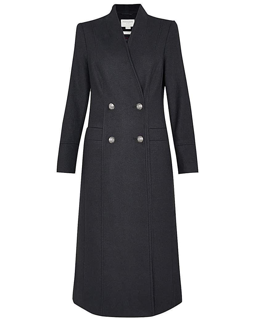 Vintage Coats & Jackets | Retro Coats and Jackets Monsoon Joey Long Coat in Wool Blend £165.00 AT vintagedancer.com
