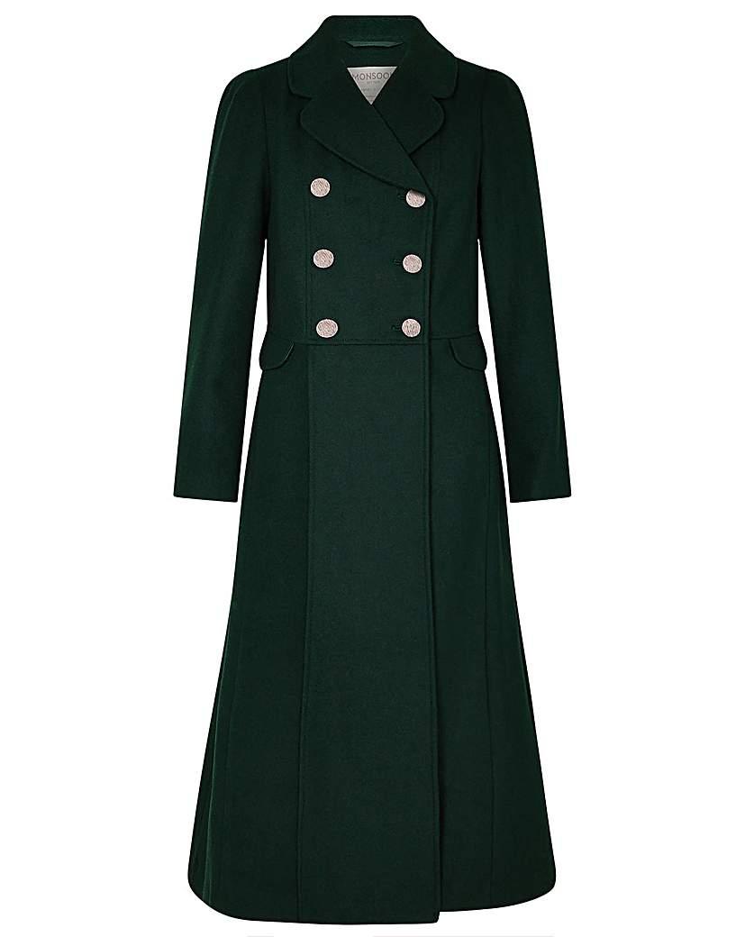 Vintage Coats & Jackets | Retro Coats and Jackets Monsoon Samantha Skirted Coat £200.00 AT vintagedancer.com