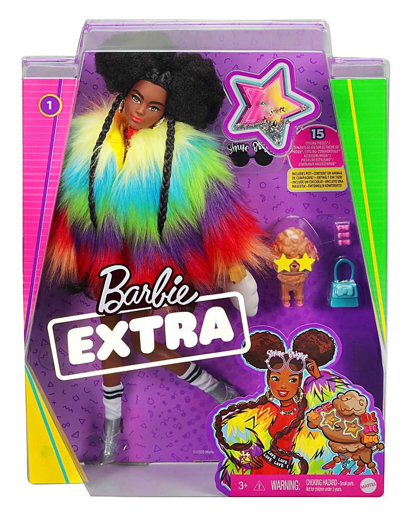 Barbie Extra Doll in Rainbow Coat