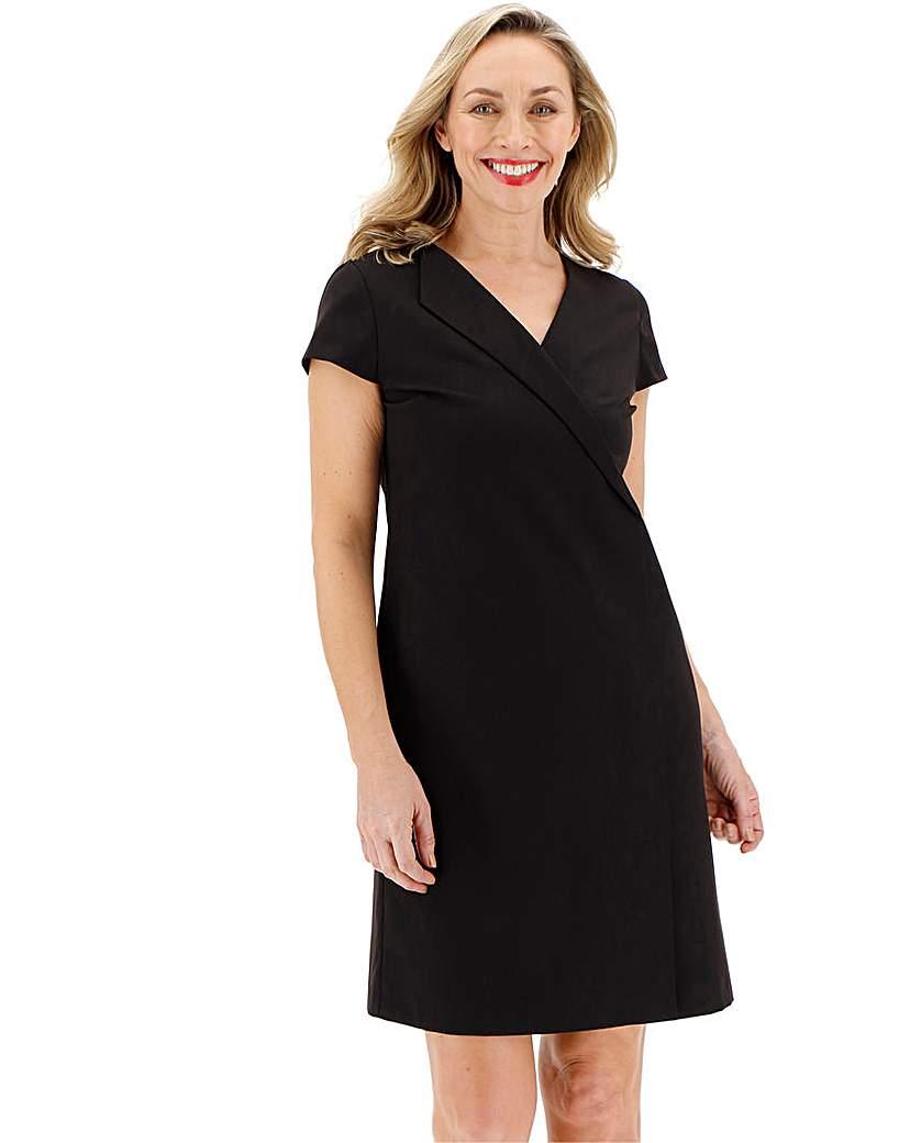 Black Workwear Tailored Shift Dress