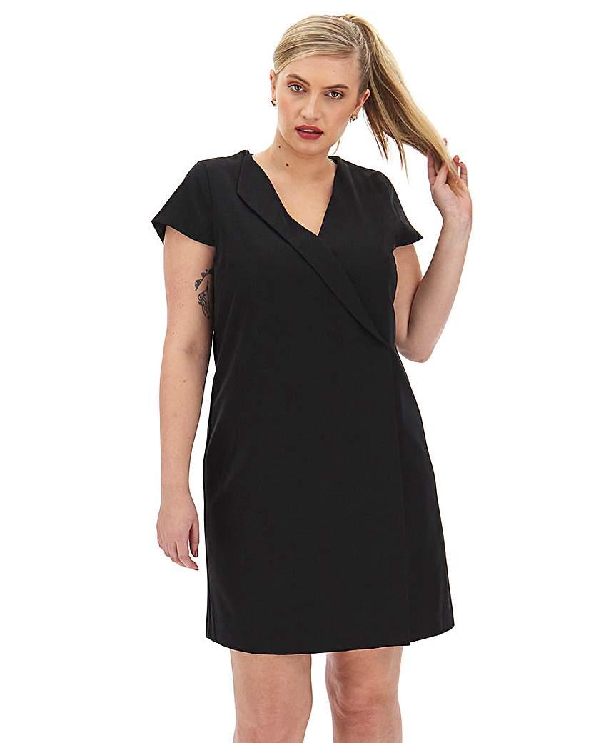 JD Williams Black Workwear Tailored Shift Dress