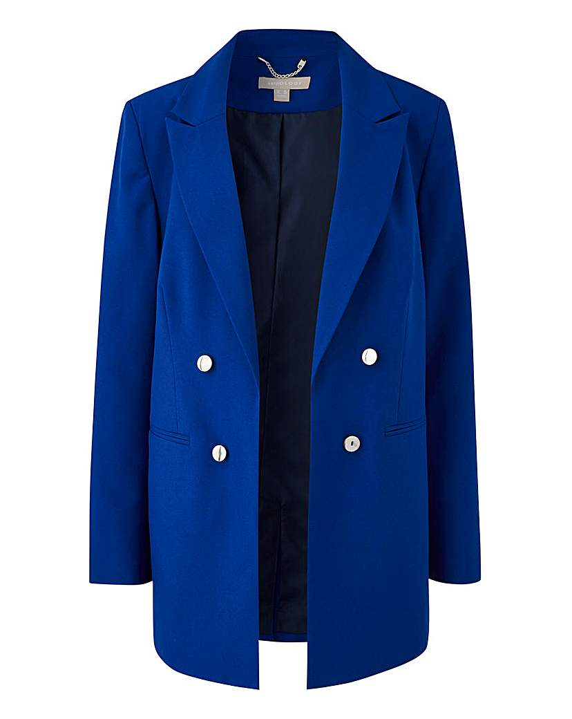 Mix and Match Blue Edge to Edge Blazer