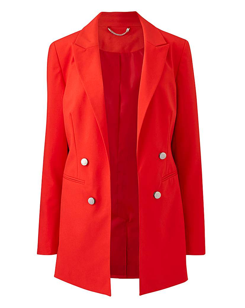 Mix and Match Red Edge to Edge Blazer