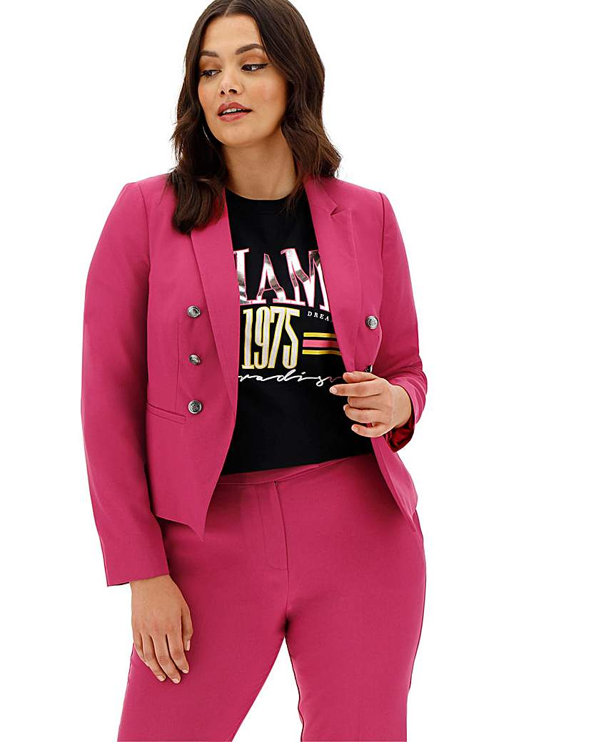 Mix and Match Pink Cropped Blazer