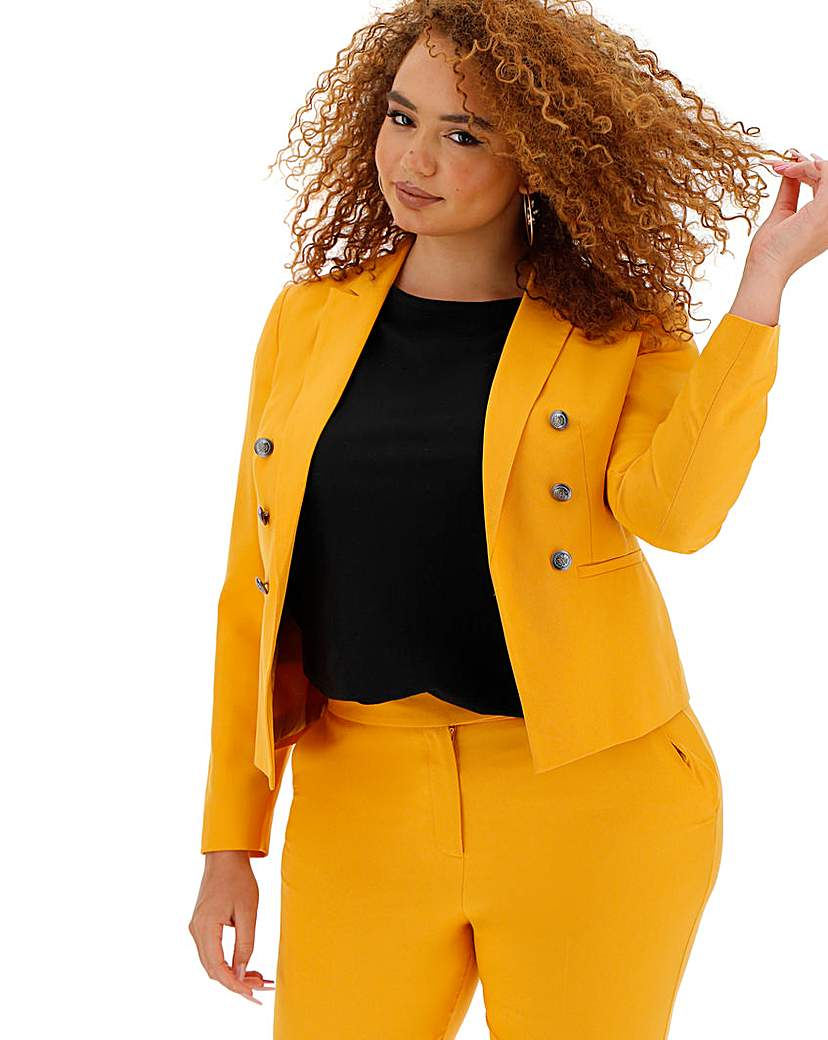 Mix and Match Mustard Cropped Blazer
