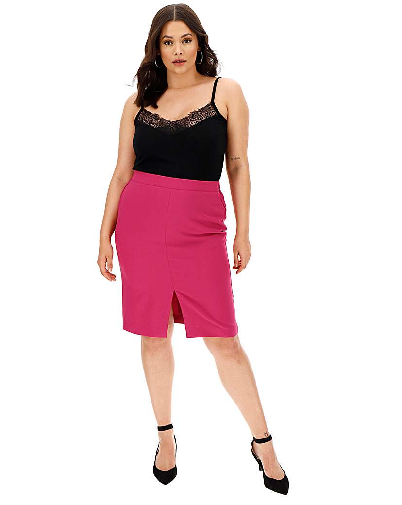 Capsule Mix and Match Pink Pencil Skirt