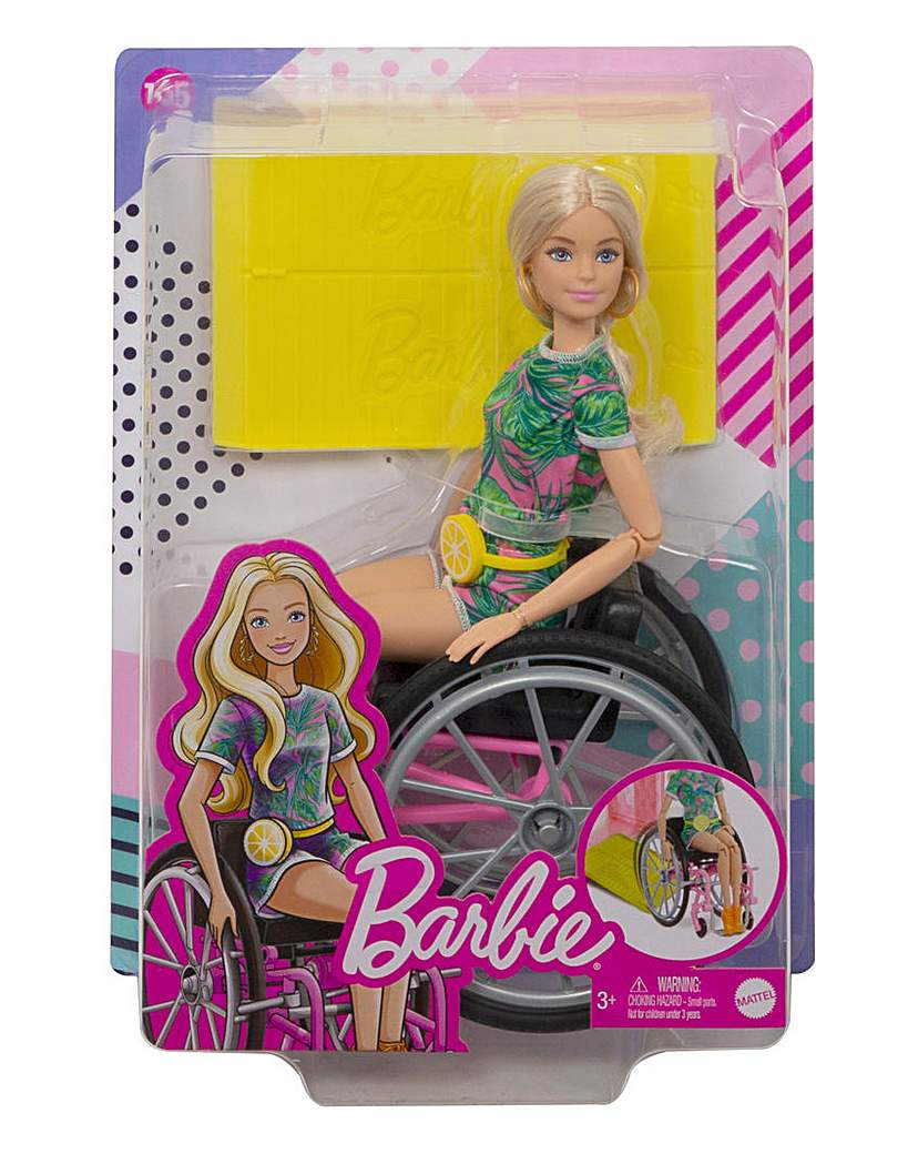Barbie Doll with Wheelchair & Ramp