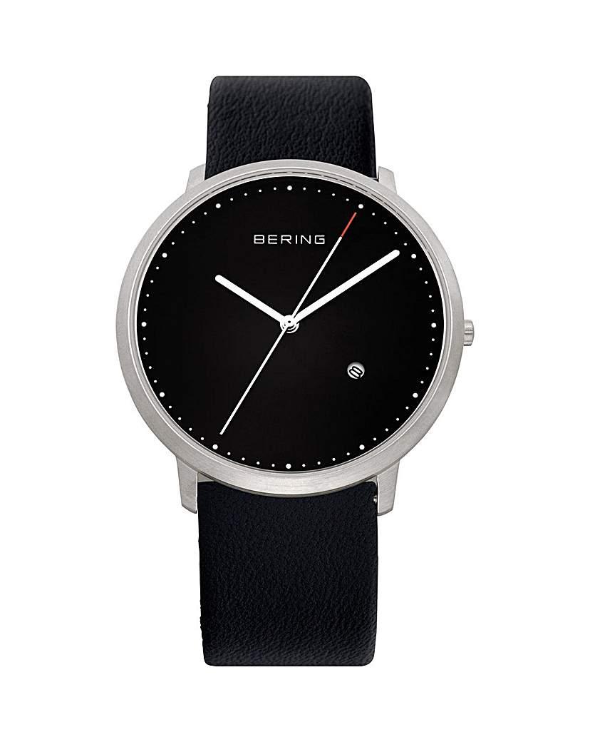Bering Gents Black Dial Strap Watch