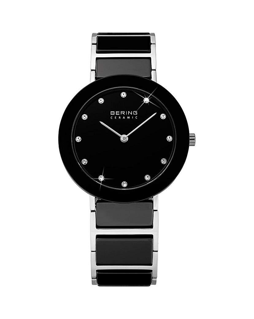 Bering Ladies Black & SS Bracelet Watch