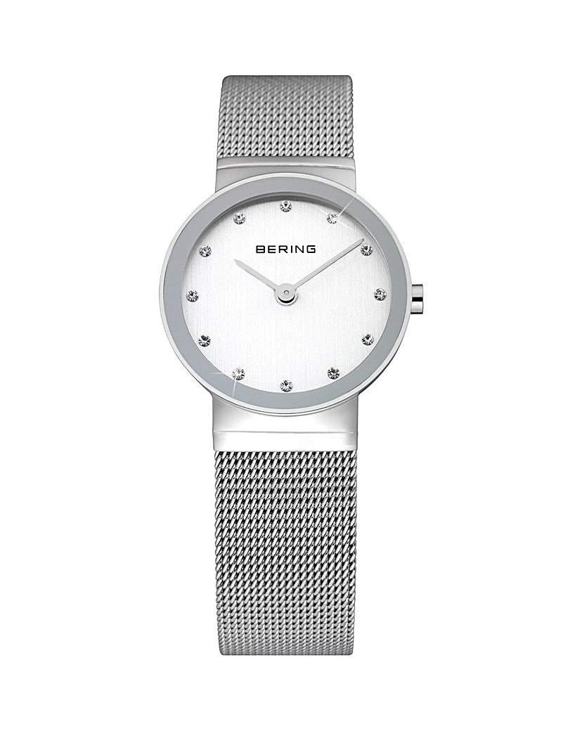 Bering Ladies SS Mesh Bracelet Watch