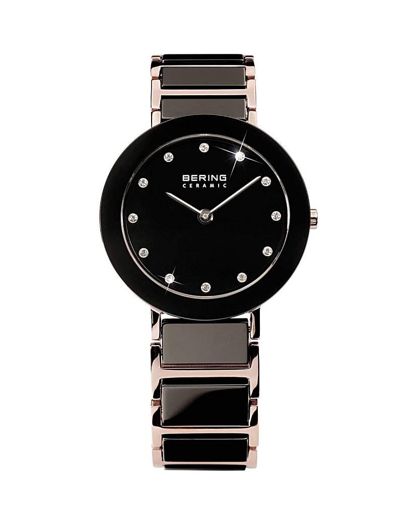 Bering Ladies Black Bracelet Watch