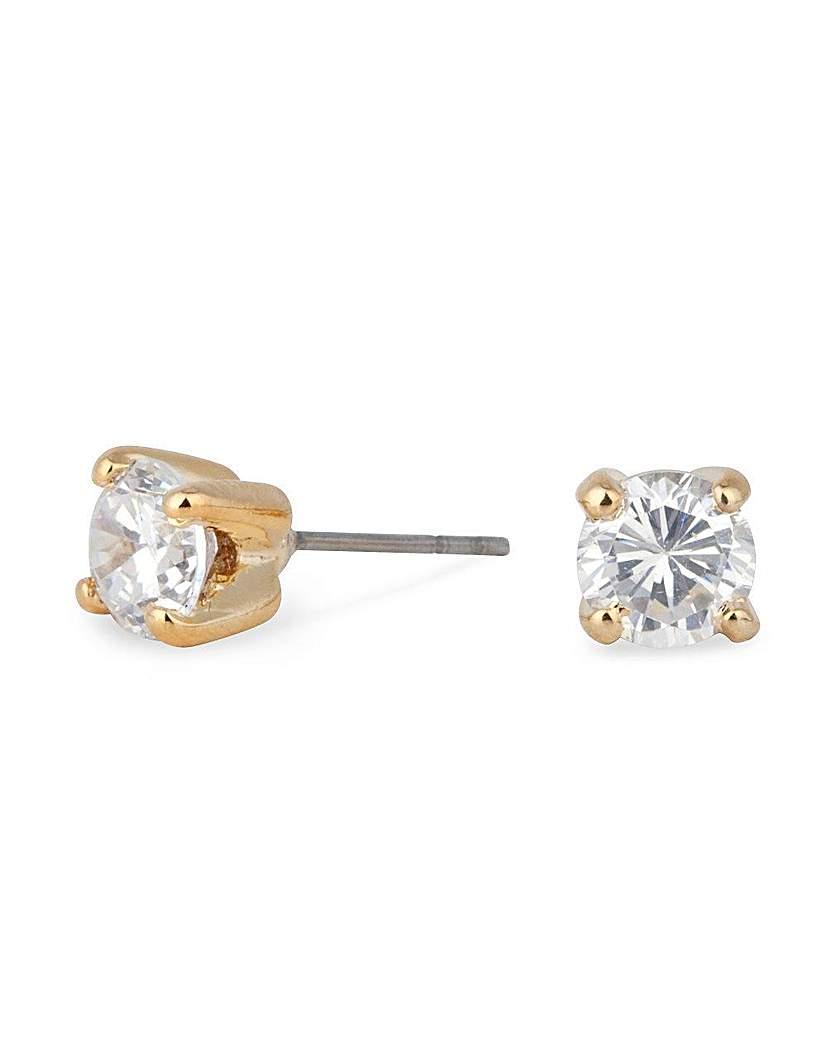 Jon Richard Cubic Zirconia Stud Earring