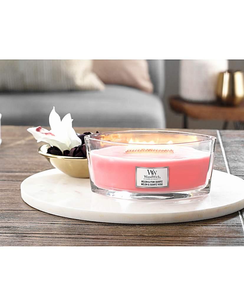 Woodwick Melon & Pink Quartz Candle