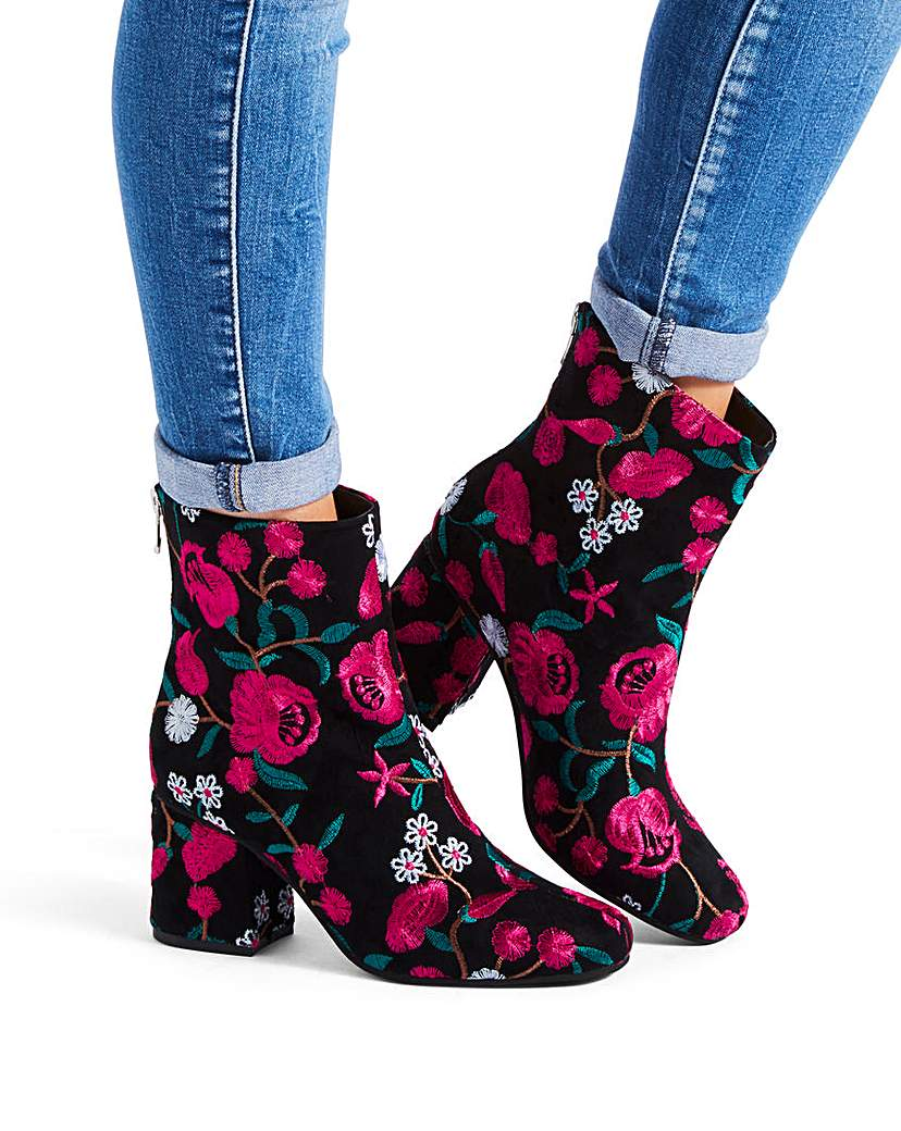 Callie Embroidered Boot EEE