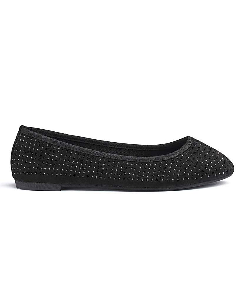 Sabrina Jewel Ballerinas Extra Wide Fit