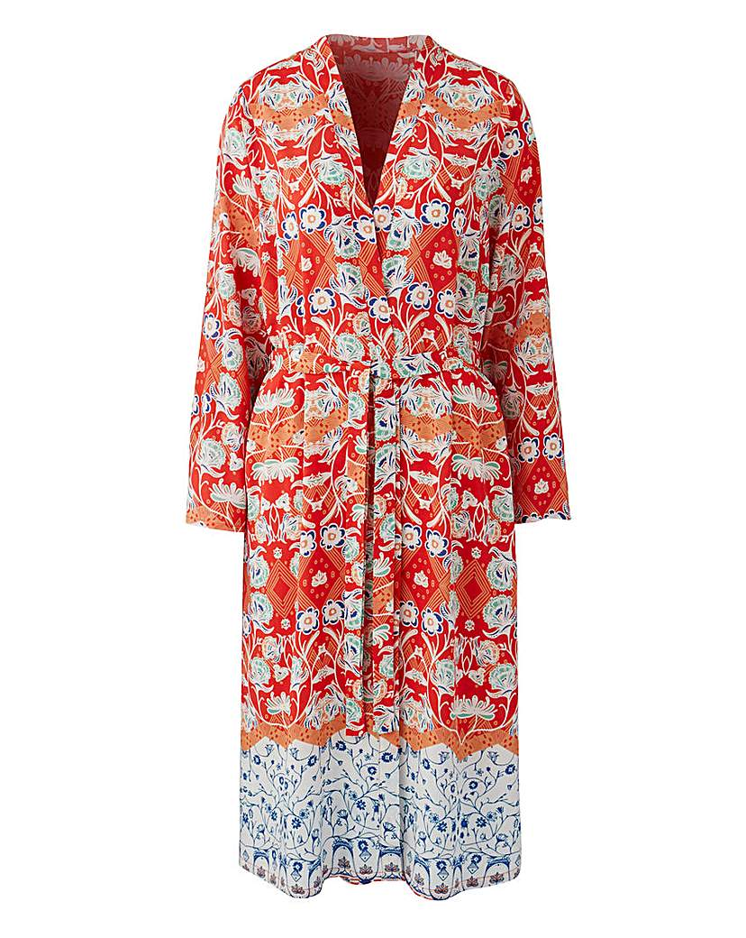 Loverbird Loverbird Print Maxi Kaftan